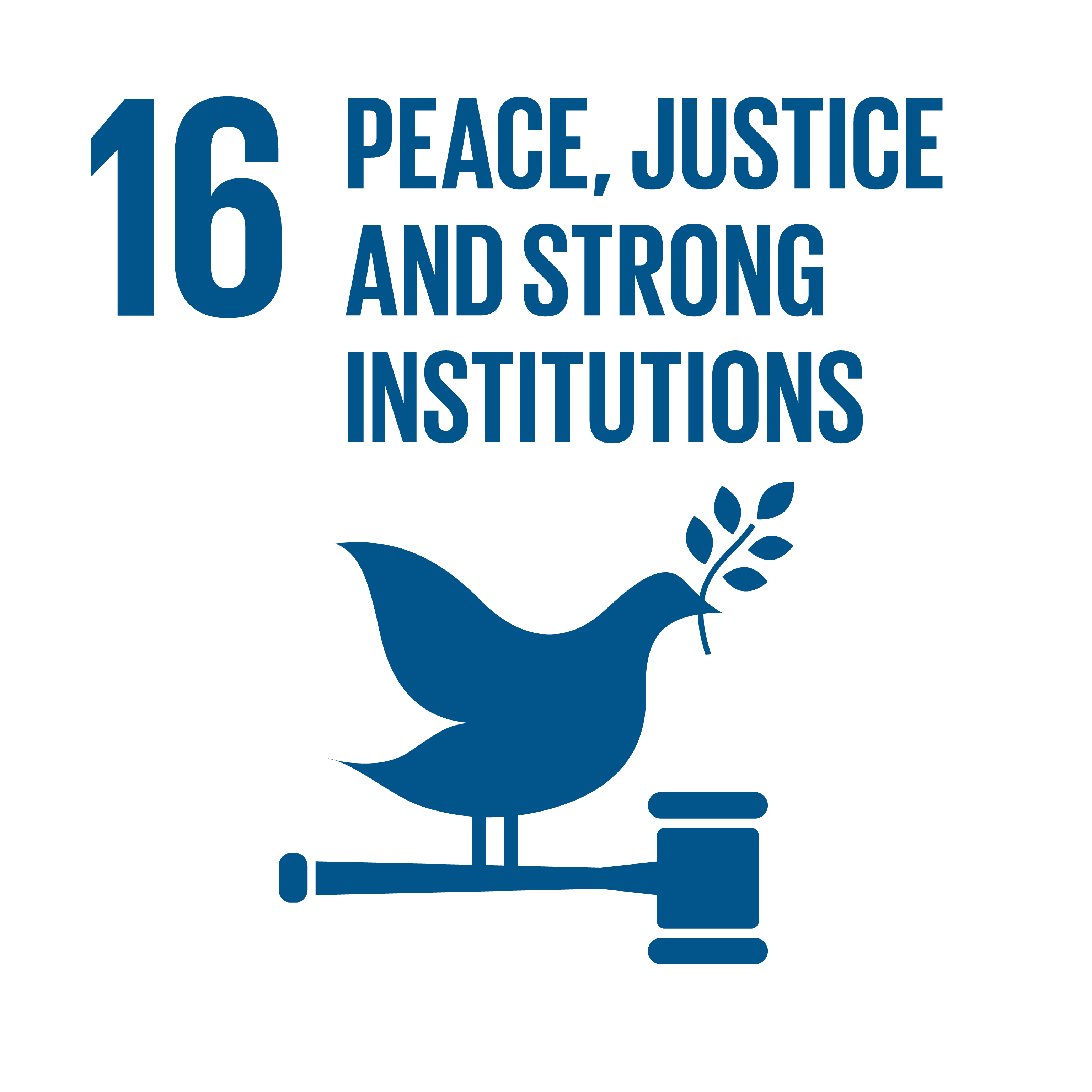 Sustainable Development Goals 16 peace justice strong institutions