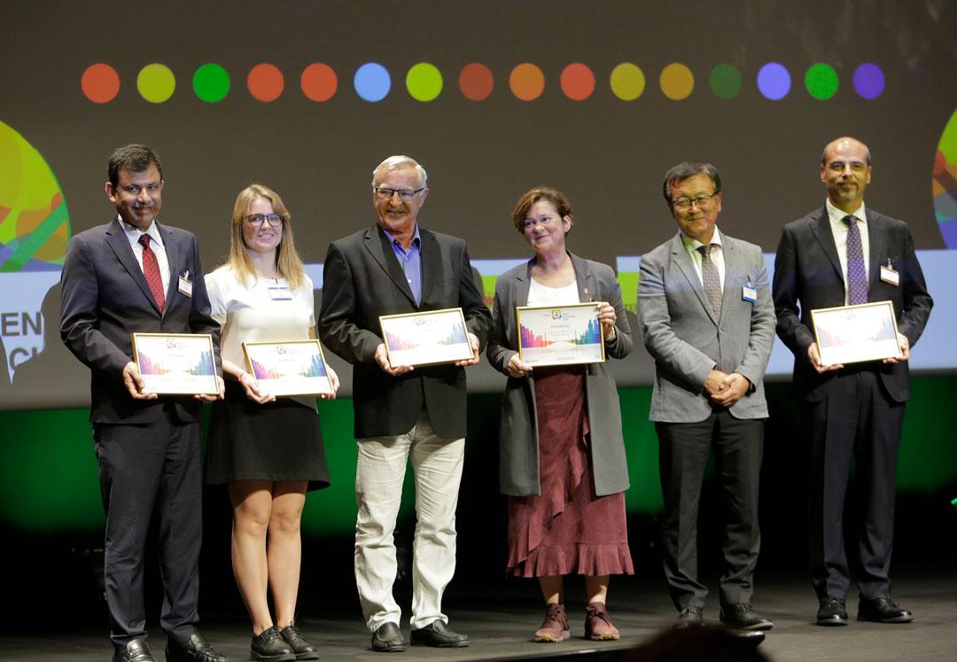 Representants de les ciutats que han estat guardonades amb els premis U4SSC